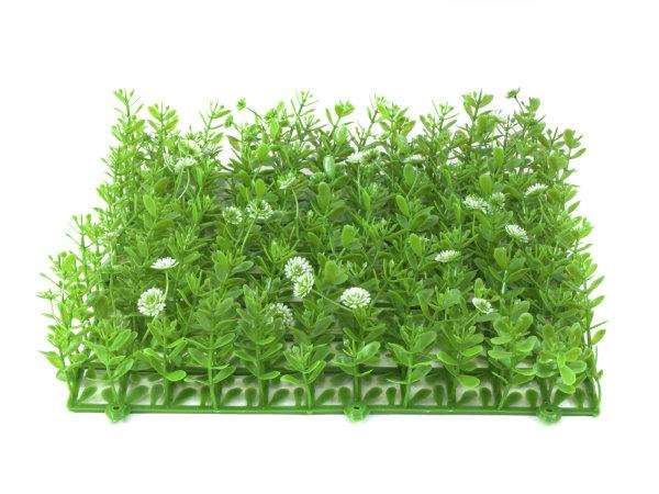 EUROPALMS Buchsmatte, künstlich, grün-weiß, 25x25cm