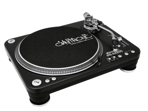OMNITRONIC DD-5220L Plattenspieler sw