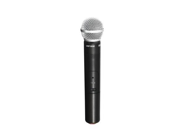 OMNITRONIC UHF-502 Handmikrofon 863-865MHz (CH A Rot)