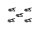 OMNITRONIC Mikrokabelclip, schwarz 5x