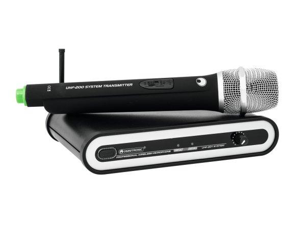 OMNITRONIC UHF-201 Funkmikrofon-System 864.300MHz