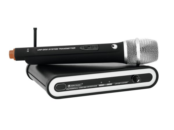 OMNITRONIC UHF-201 Funkmikrofon-System 824.925MHz