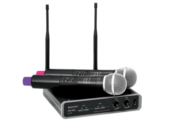 OMNITRONIC UHF-102 Funkmikrofon-System 823.5/863.1MHz
