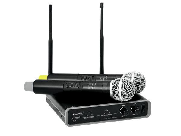 OMNITRONIC UHF-102 Funkmikrofon-System 825.3/864.1MHz