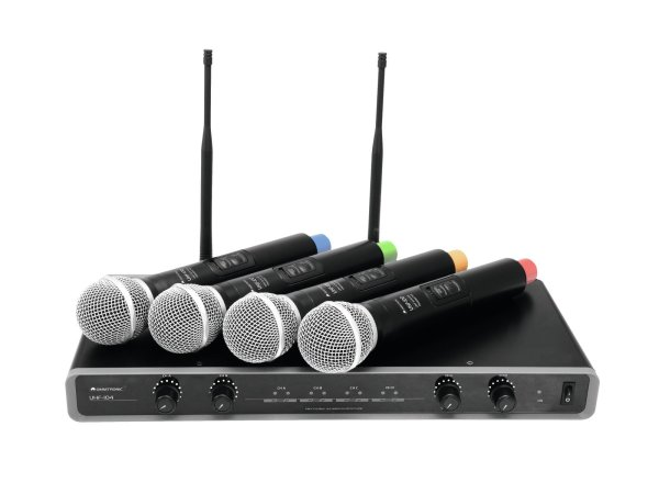 OMNITRONIC UHF-104 Funkmikrofon-System 828.1/830.3/864.8/863.8MHz