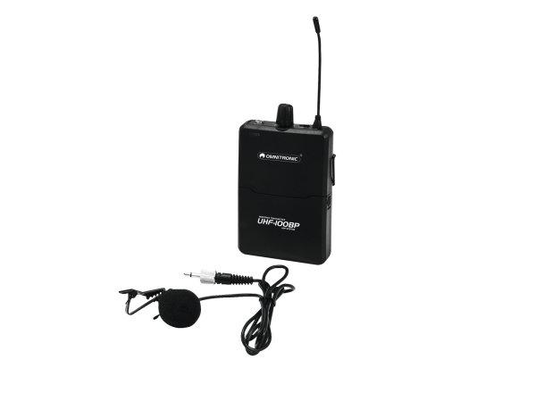 OMNITRONIC UHF-100 BP Taschensender 823.5MHz (pink)