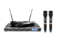OMNITRONIC UHF-304 4-Kanal-Funkmikrofonsystem 823-832/863-865MHz