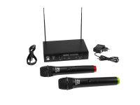 OMNITRONIC VHF-102 Funkmikrofon-System 215.85/207.55MHz