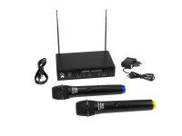 OMNITRONIC VHF-102 Funkmikrofon-System 214.35/201.60MHz