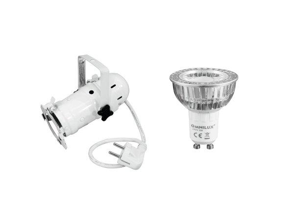 EUROLITE Set PAR-16 Spot ws + GU-10 230V COB 1x3W LED 2700K