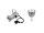 EUROLITE Set PAR-16 Spot sil + GU-10 230V COB 7W 6400K