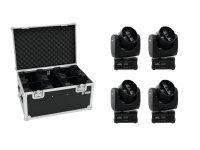 EUROLITE Set 4x LED TMH FE-300 Beam/Flowereffekt + Case