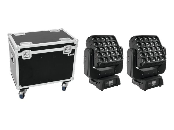 EUROLITE Set 2x LED TMH-X25 Moving-Head + Case