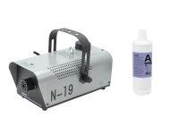 EUROLITE Set N-19 Nebelmaschine silber + A2D Action...