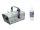 EUROLITE Set N-19 Nebelmaschine silber + A2D Action Nebelfluid 1l