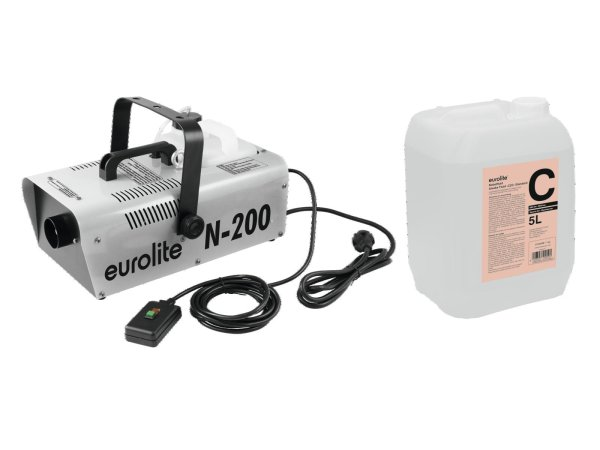 EUROLITE Set N-200 Nebelmaschine + C2D Standard Nebelfluid 5l