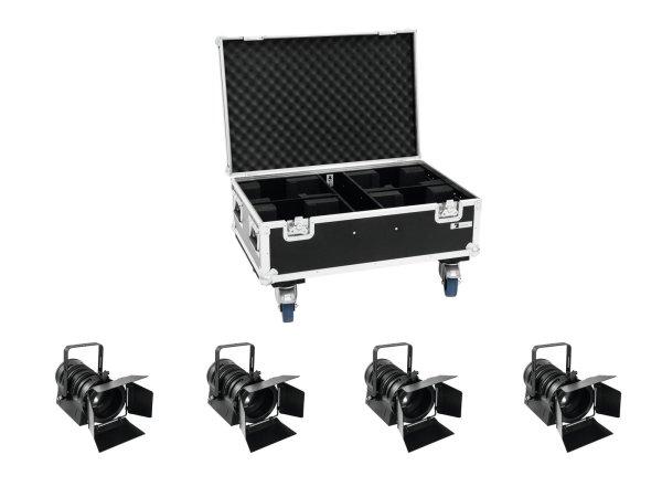 EUROLITE Set 4x LED THA-40PC sw + Case