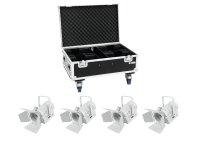 EUROLITE Set 4x LED THA-40PC ws + Case