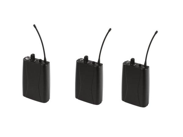 OMNITRONIC Set WMT-1M UHF-Sender + 2x WMR-1M UHF-Empfänger