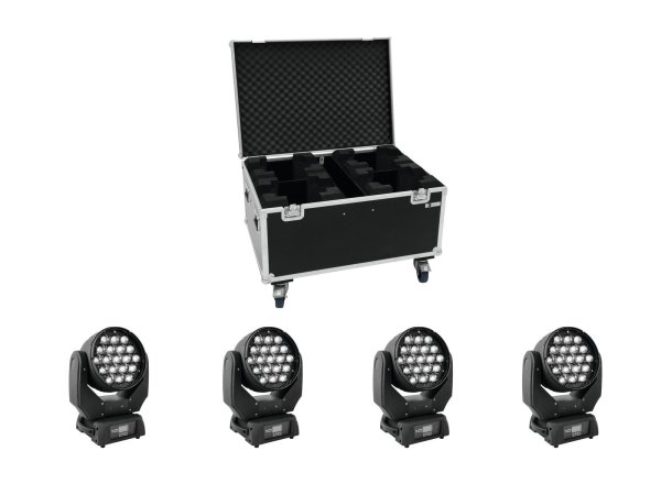EUROLITE Set 4x LED TMH-X5 + Case