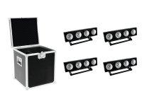 EUROLITE Set 4x LED PMB-4 COB RGB + Case
