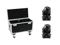 EUROLITE Set 2x LED TMH-60 MK2 + Case mit Rollen