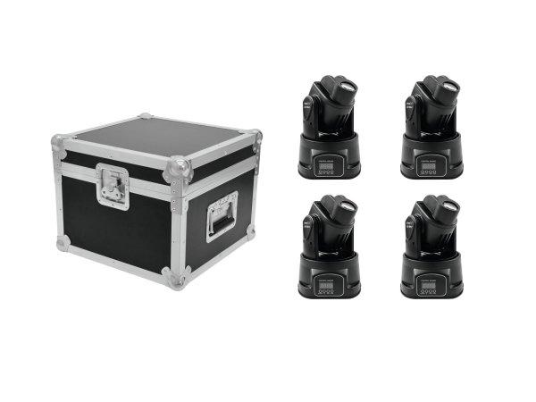 EUROLITE Set 4x LED TMH-8 + Case