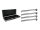 EUROLITE Set 4x LED BAR-252 RGB 10mm 20° schwarz + Case