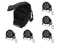 EUROLITE Set 5x LED SLS-603 + Soft-Bag