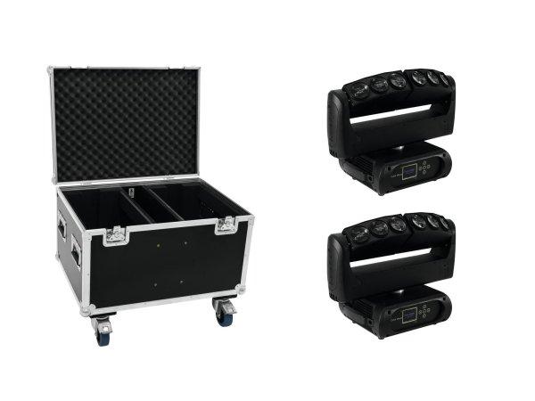 FUTURELIGHT Set 2x Color Wave LED-Moving-Leiste + Case