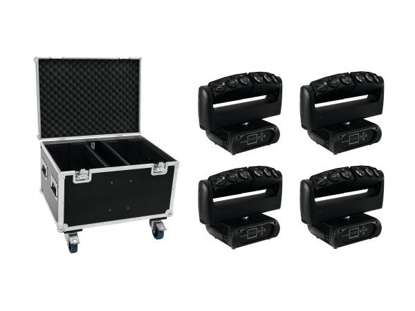 FUTURELIGHT Set 4x Color Wave LED-Moving-Leiste + Case