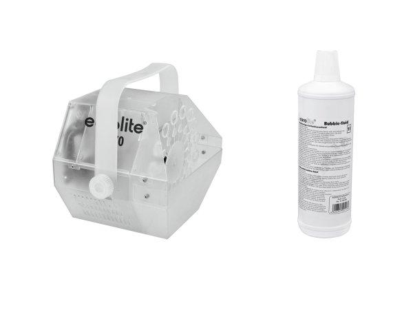 EUROLITE Set LED B-70 Seifenblasenmaschine + Seifenblasenfluid 1l