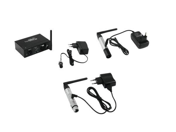 EUROLITE Set freeDMX AP Wi-Fi Interface + QuickDMX Funksender und -empfänger