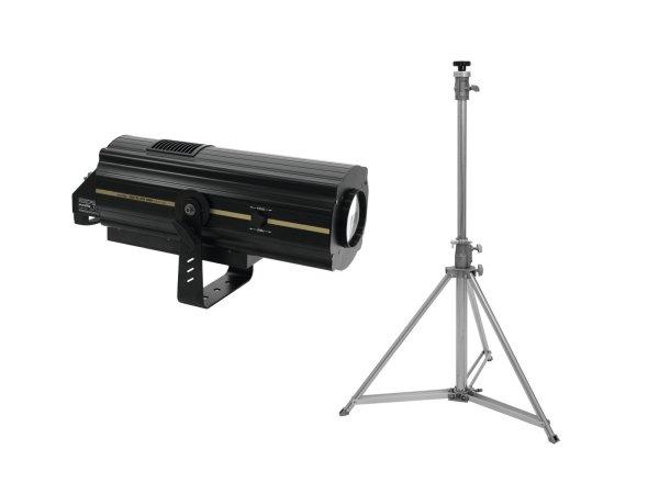 EUROLITE Set LED SL-350 DMX Search Light + STV-200 Verfolgerstativ, Edelstahl
