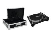 OMNITRONIC Set DD-5220L Plattenspieler sw + Case Tour Pro...