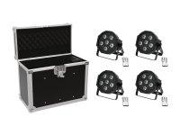 EUROLITE Set 4x LED SLS-603 + Case EC-SL4M...