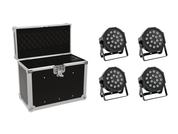 EUROLITE Set 4x LED SLS-180 + Case EC-SL4M Größe M