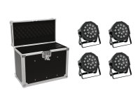 EUROLITE Set 4x LED SLS-180 + Case EC-SL4M...