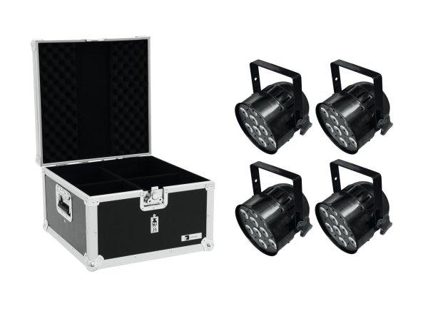 EUROLITE Set 4x LED PAR-56 QCL Short sw + EPS Case