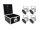 EUROLITE Set 4x LED PAR-56 HCL Short sil + PRO Case