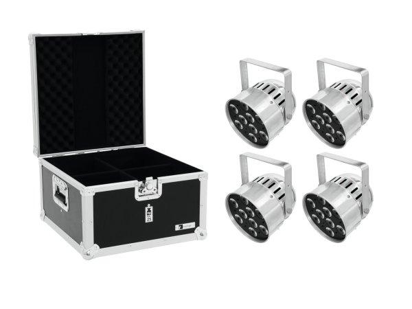 EUROLITE Set 4x LED PAR-56 HCL Short sil + EPS Case
