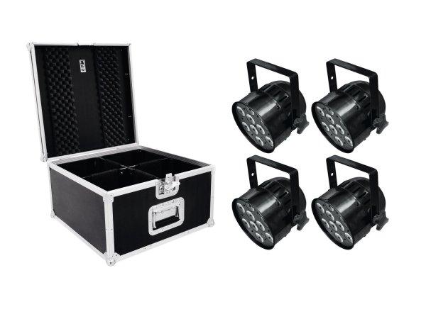 EUROLITE Set 4x LED PAR-56 HCL Short sw + PRO Case