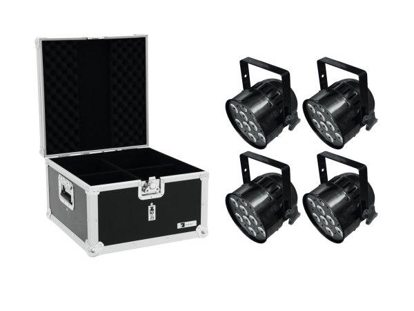 EUROLITE Set 4x LED PAR-56 HCL Short sw + EPS Case