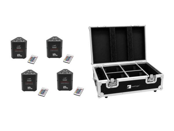 EUROLITE Set 4x AKKU TL-3 TCL QuickDMX + Case mit Ladefunktion