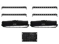 EUROLITE Set 4x LED BAR-12 QCL RGBA + 2x Soft Bag +...