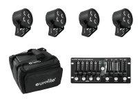 EUROLITE Set 4x LED PS-4 HCL + Soft Bag + Controller