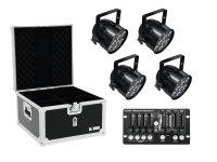 EUROLITE Set 4x LED PAR-56 QCL sw + Case + Controller