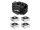 EUROLITE Set 4x AKKU Flat Light 1 silber + Soft-Bag