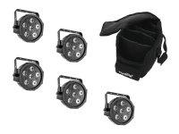 EUROLITE Set 5x LED SLS-6 TCL Spot + Soft Bag