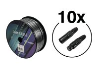 EUROLITE Set DMX Kabel 2x0,22 100m sw + 20 Verbinder